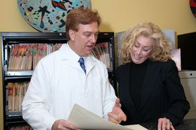 Dr. Regni with holistic dentistry patient