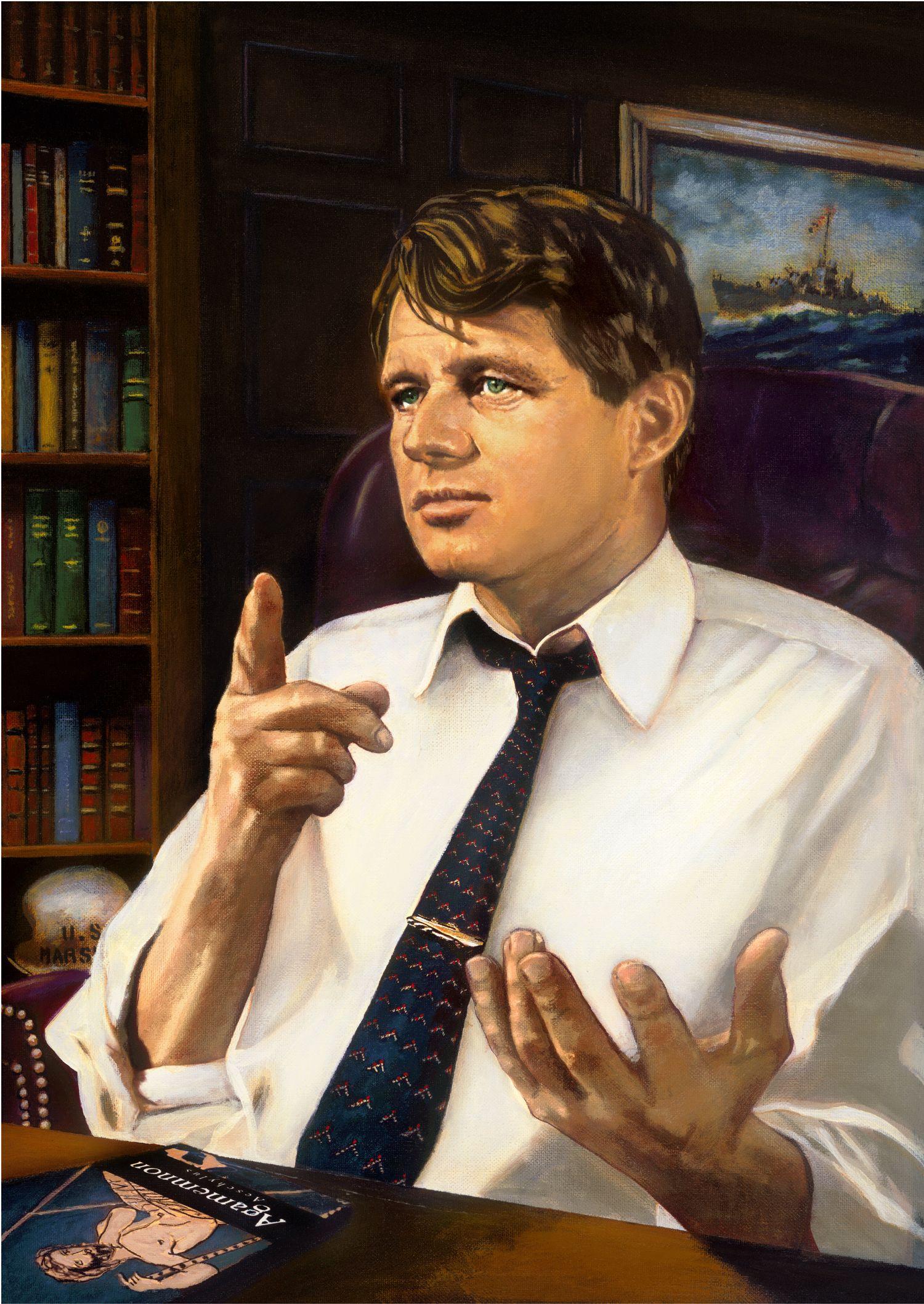 Portrait of Robert F. Kennedy.