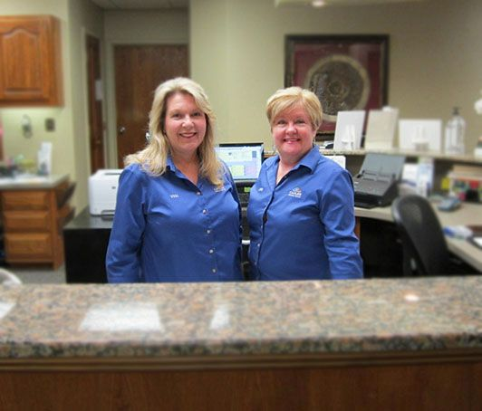 Receptionists at dental office