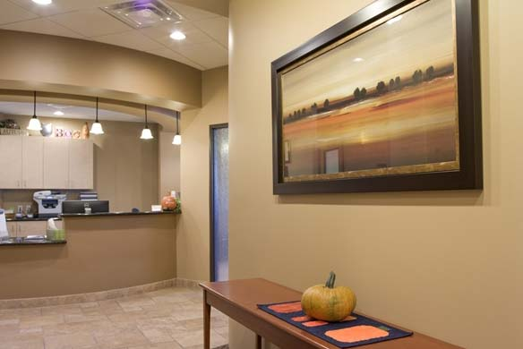 Dental office front lobby