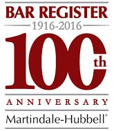 Bar Register, 100th Anniversary, Martindale-hubbell