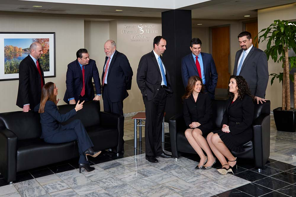 Photo of attorneys at Snyder, Sarno, D'Aniello, Maceri, da Costa