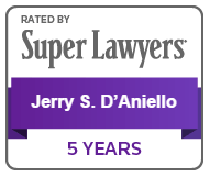 Super Lawyers, Jerry S. D'Aniello, 5 Years Acheivement