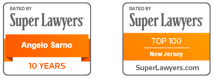 Angelo Sarno, Rated by Super Lawyers, Top 100 in New Jersey