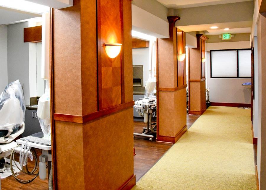 Interior: treatment areas.
