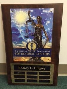 """Top 100 Trial Lawyers"" 2015 – The National Trial Lawyers"