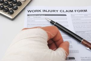 injured person filling out a claim form