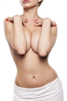 Female cosmetic surgery model.