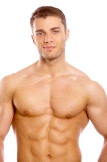 Male abdominoplasty model.