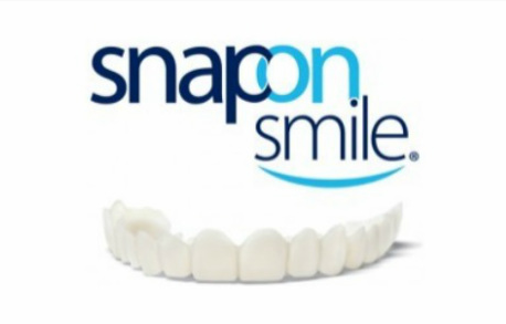 Graphic of Snap-on Smile logo and appliance.