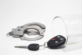 Car keys and handcuffs