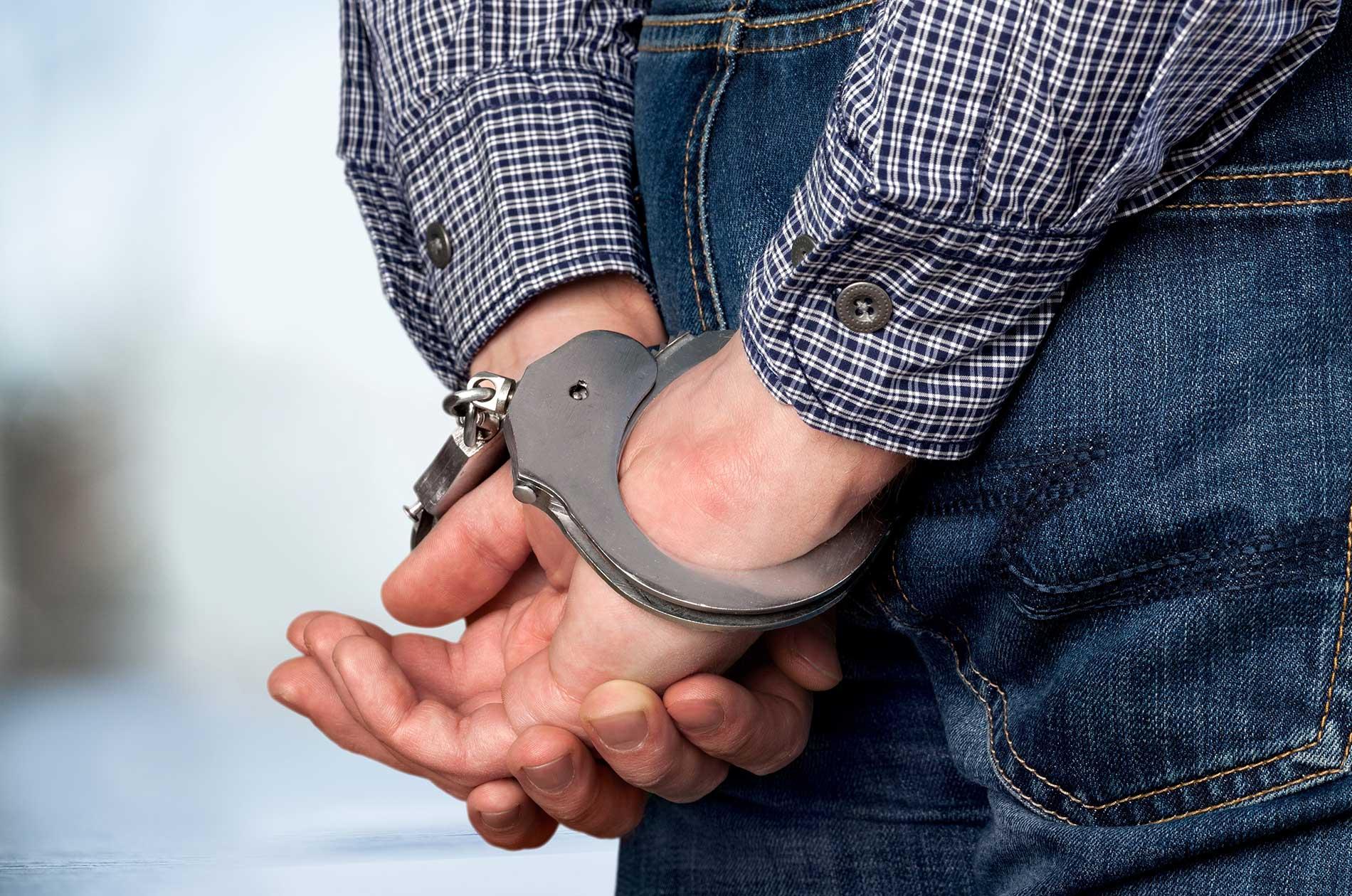 A man in handcuffs