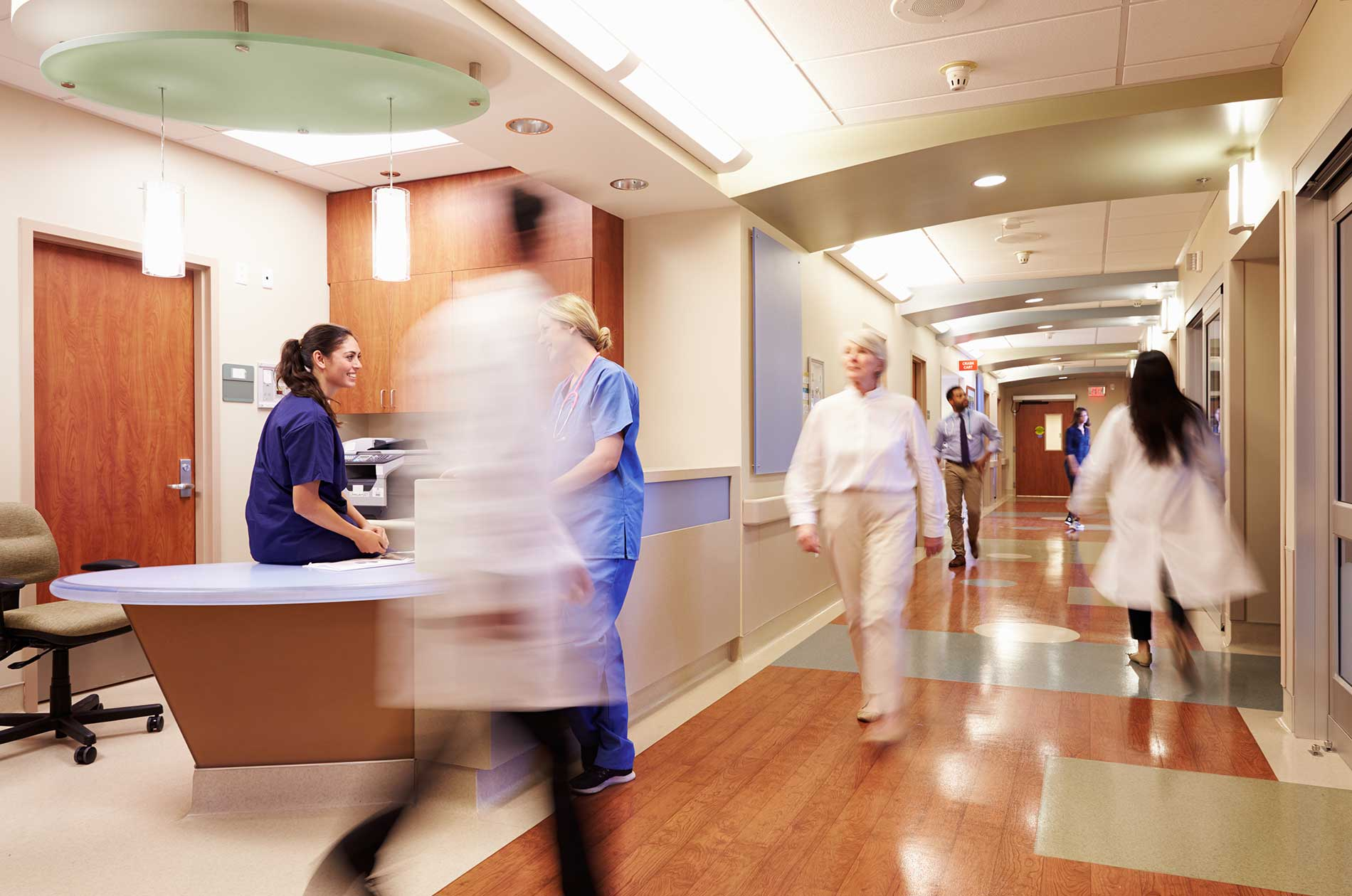 A busy hospital wing