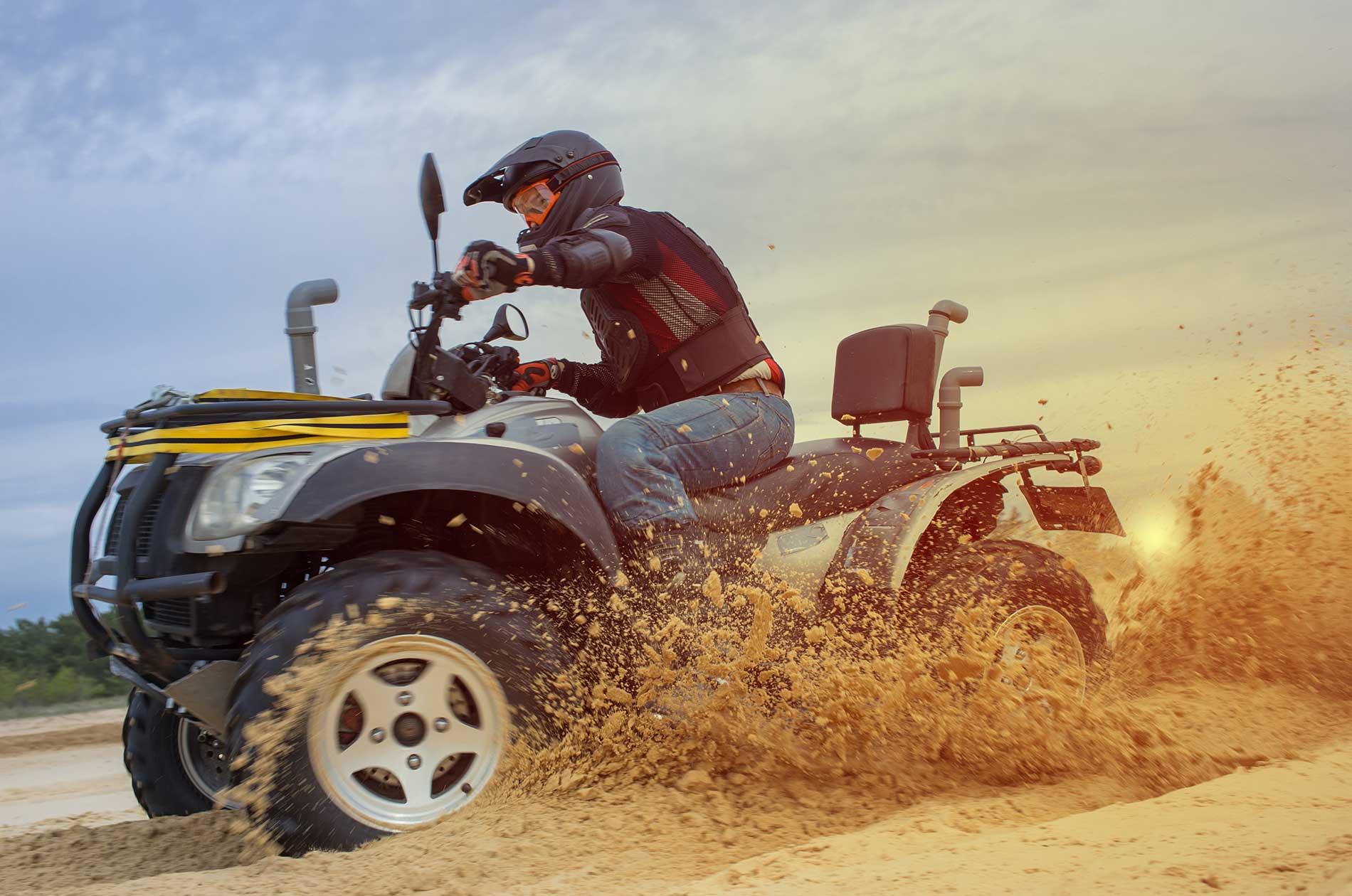 An ATV rider