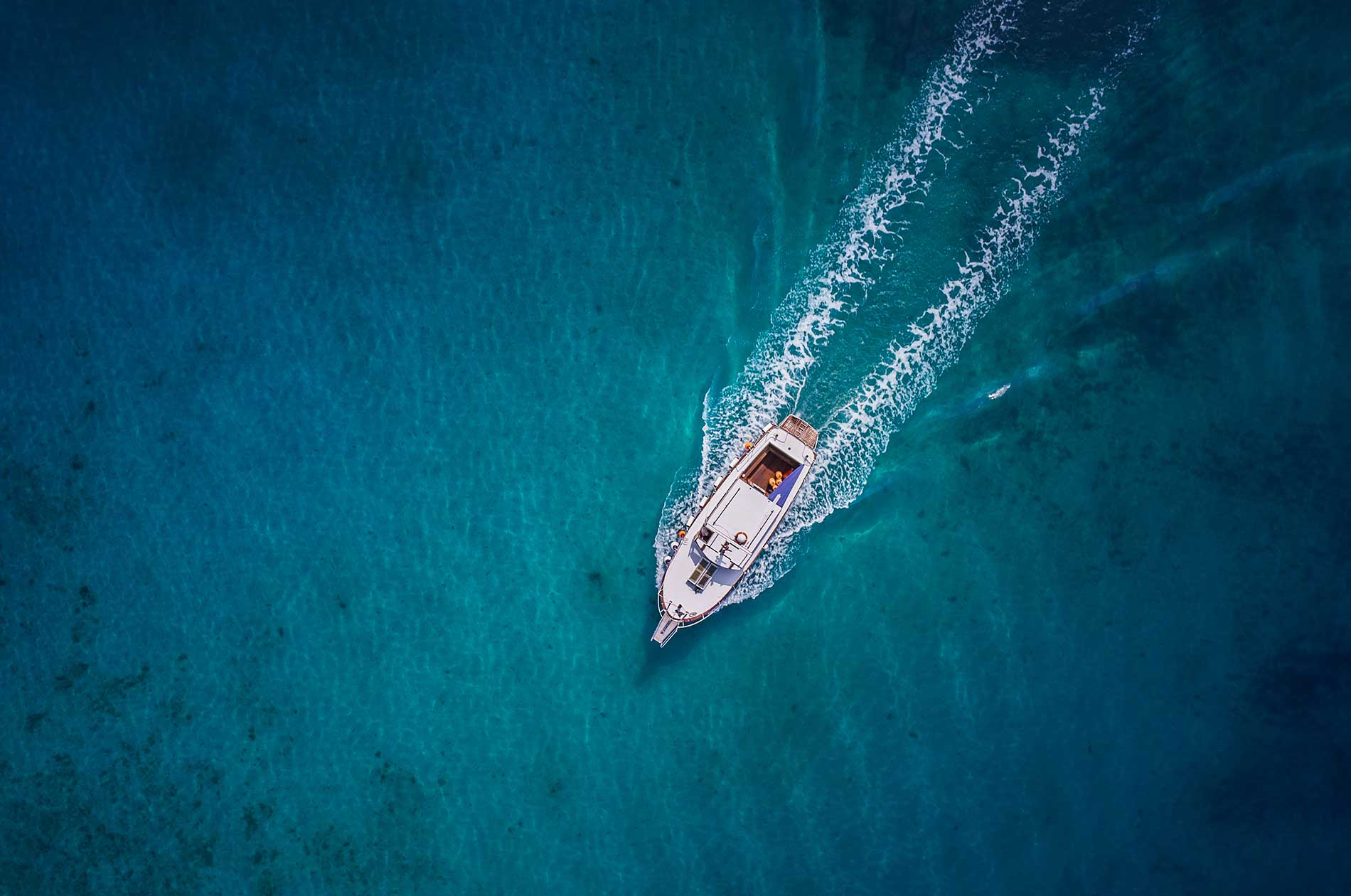 A speedboat on the water