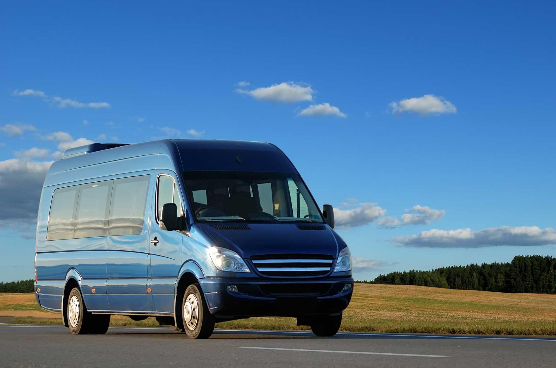 A large passenger van