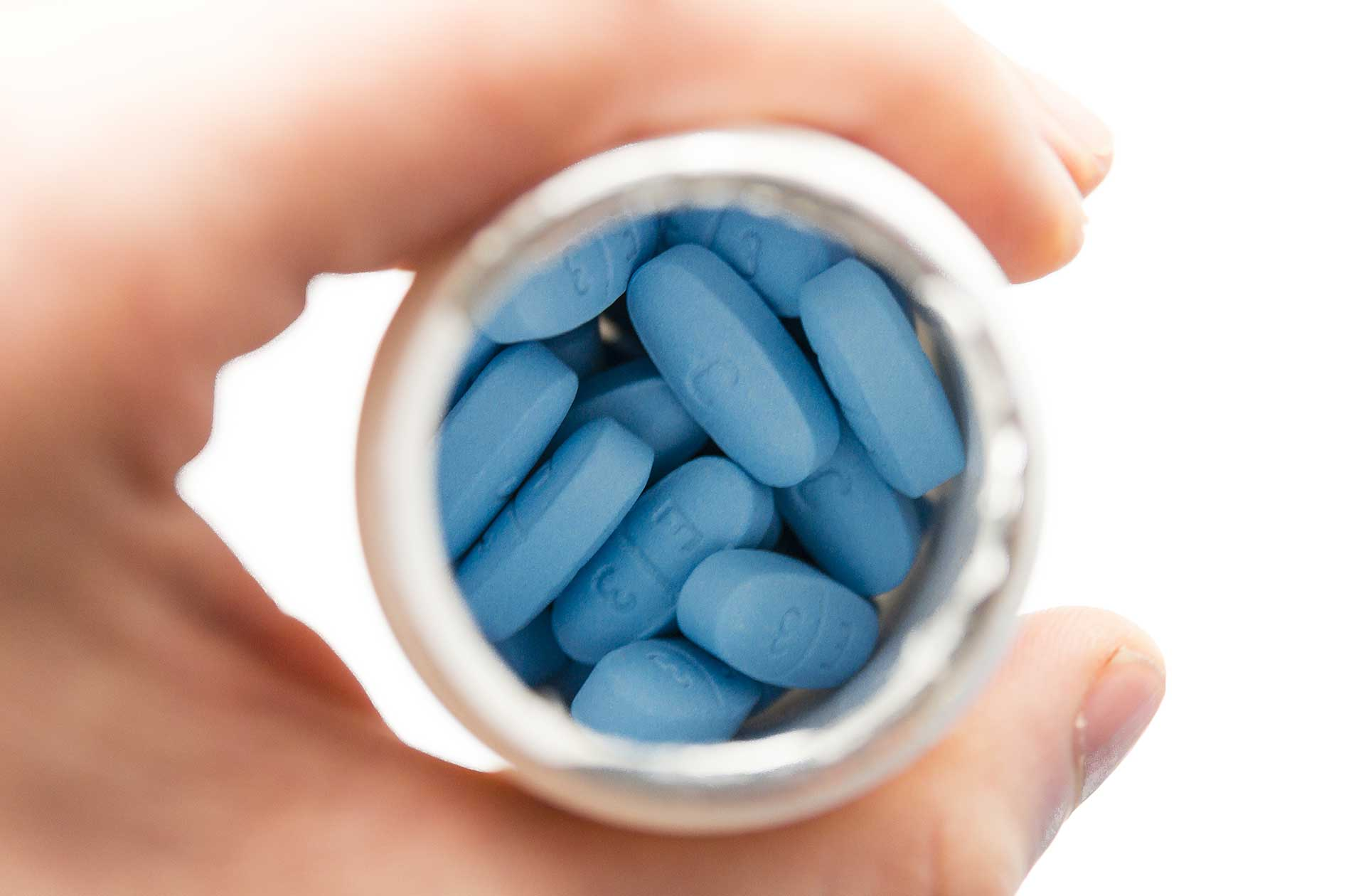 Viagra pills in a bottle