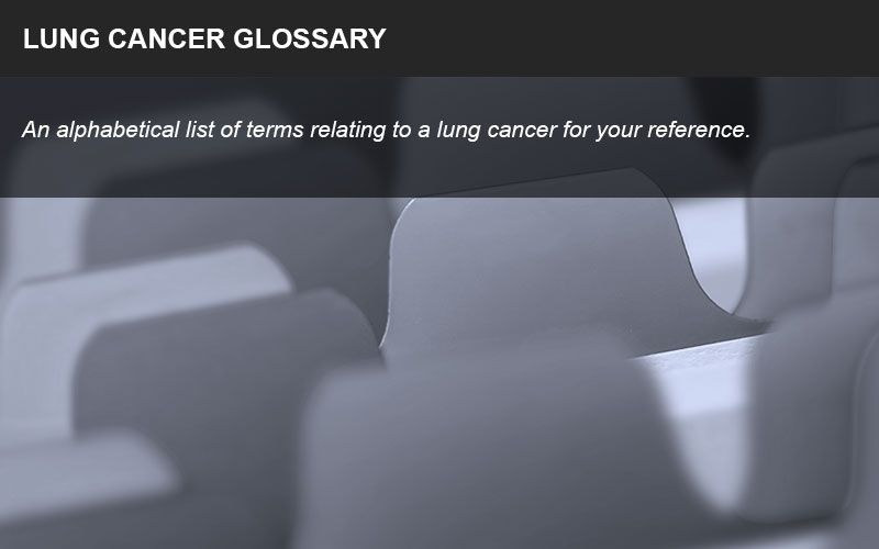 Terms related to lung cancer