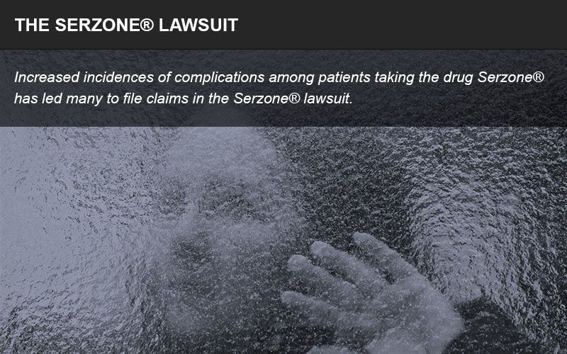 Serzone lawsuit and injuries