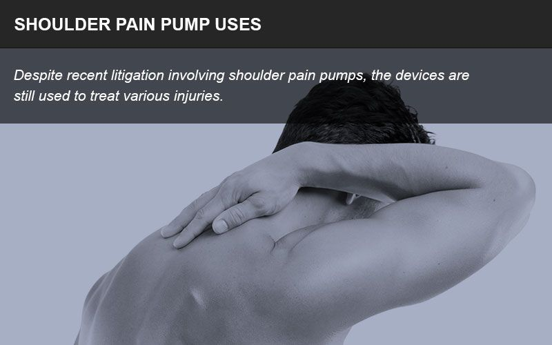 Shoulder pain pumps are still in use despite many patient complications.