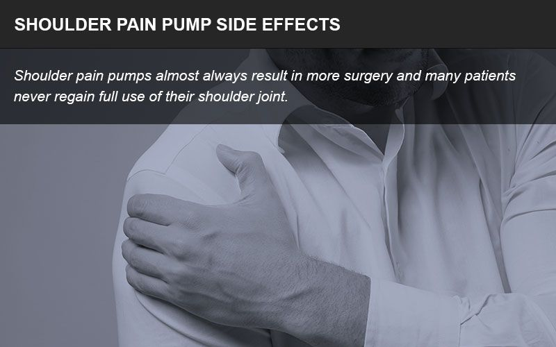Shoulder pain pumps side effects infographic