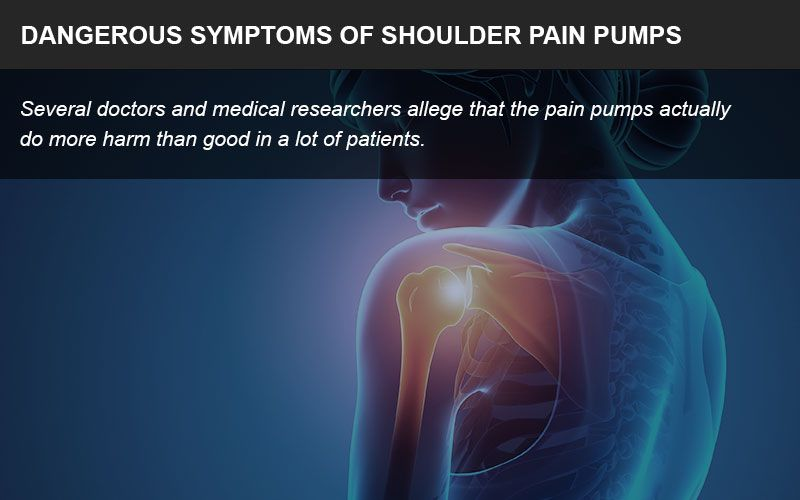 Shoulder pain pumps have caused troubling symptoms in patients