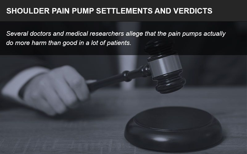 Shoulder pain pump lawsuits have resulted in large settlements for patients