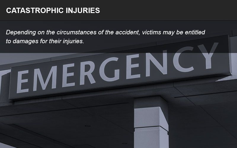Catastrophic injury litigation infographic