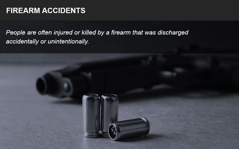 Firearm accidents infographic