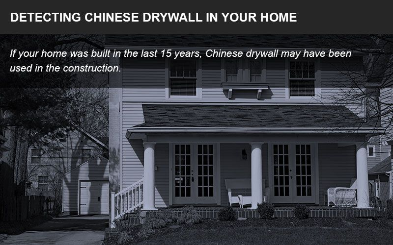 Chinese drywall detection infographic