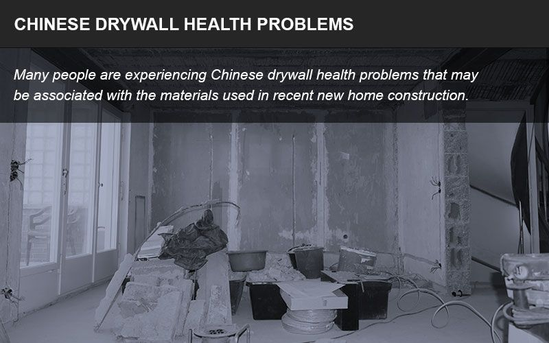 Health problems related to Chinese drywall