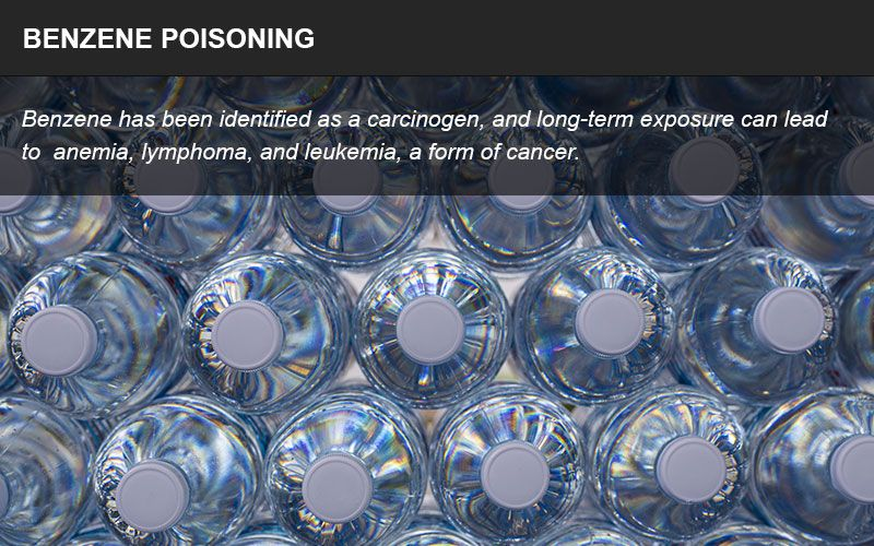 Benzene poisoning infographic