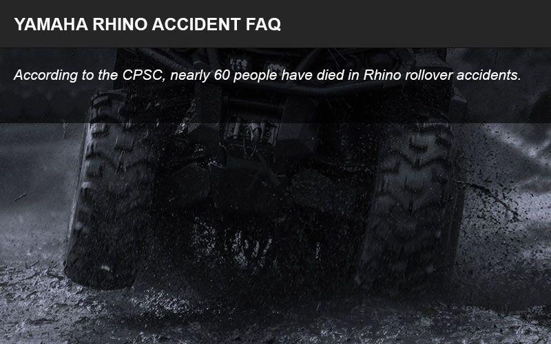 Yamaha Rhino rollover litigation FAQ infographic