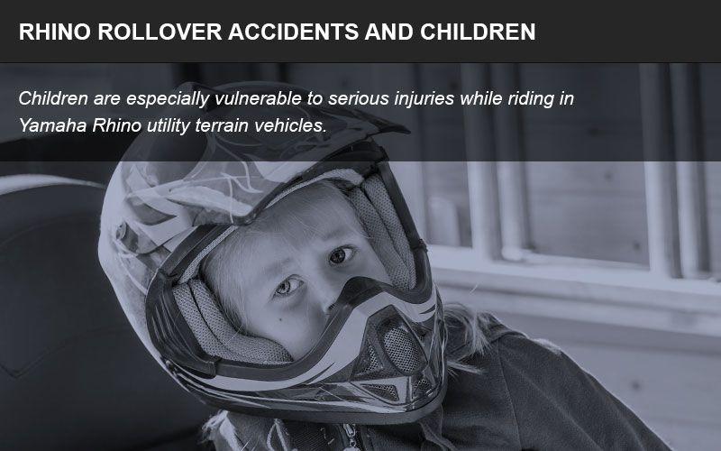 Yamaha Rhino vehicles are dangerous for children