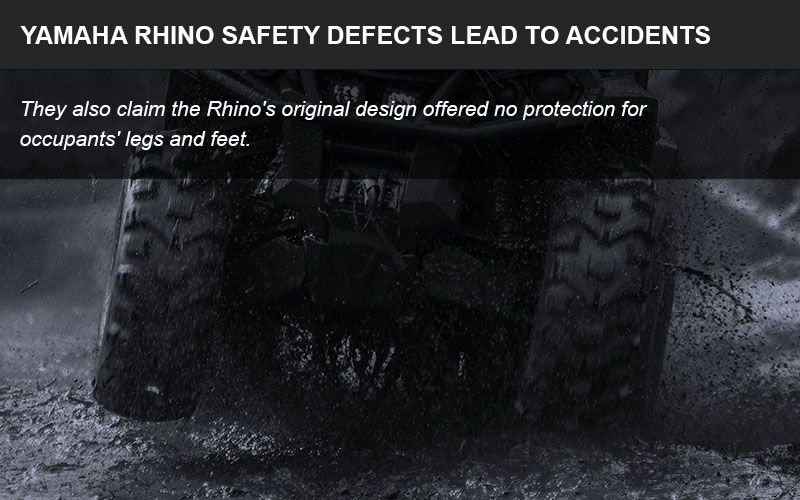 The Yamaha Rhino has inherent safety defects that are dangerous for riders