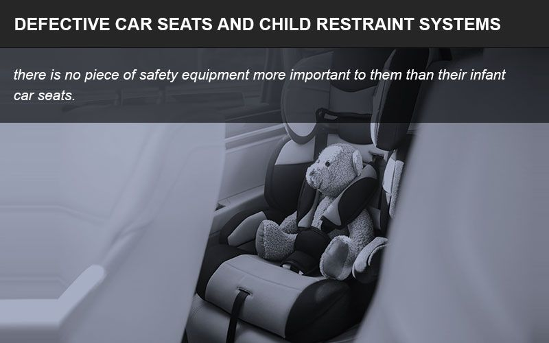 Defective car seats infographic