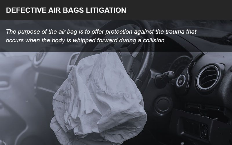 Defective air bags infographic