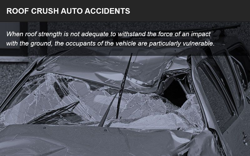 Roof crush accidents infographic