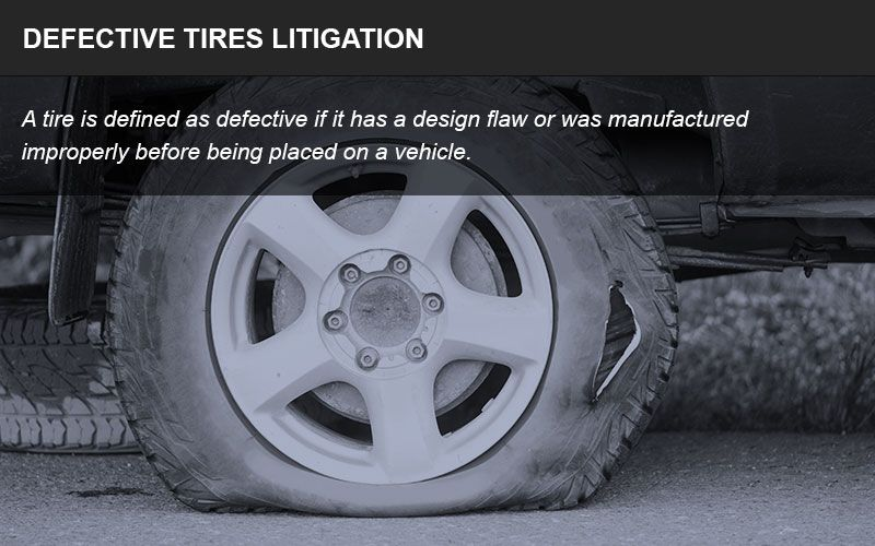 Defective tires infographic