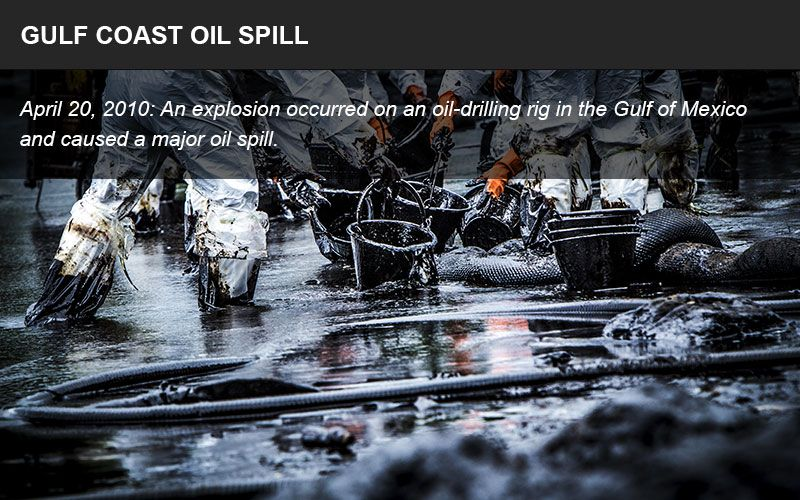 Gulf Coast oil spill infographic