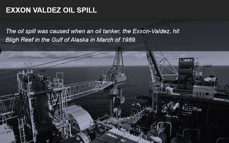 Exxon Valdez oil spill infographic