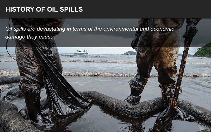 History of oil spills infographic