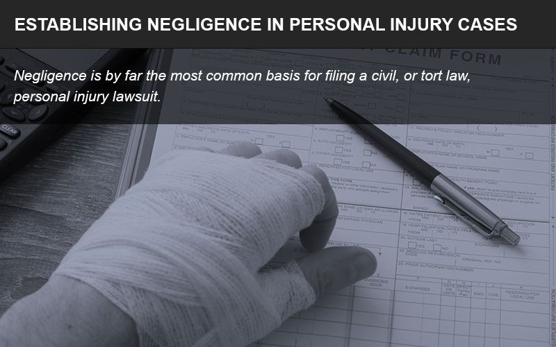 Establishing negligence is an important step in personal injury cases