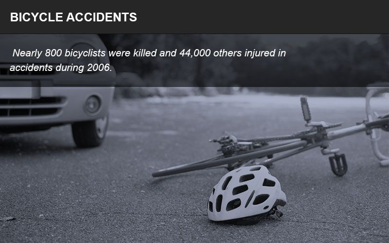 Bicycle accidents often result in severe injuries for riders