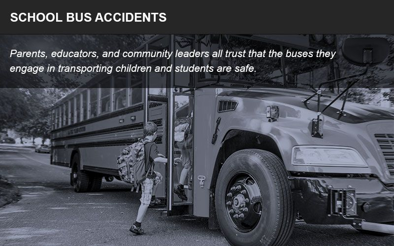 School bus accidents can cause serious injuries