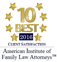 image of 10 best lawyers of 2016 by American Institute of Family Law Attorneys