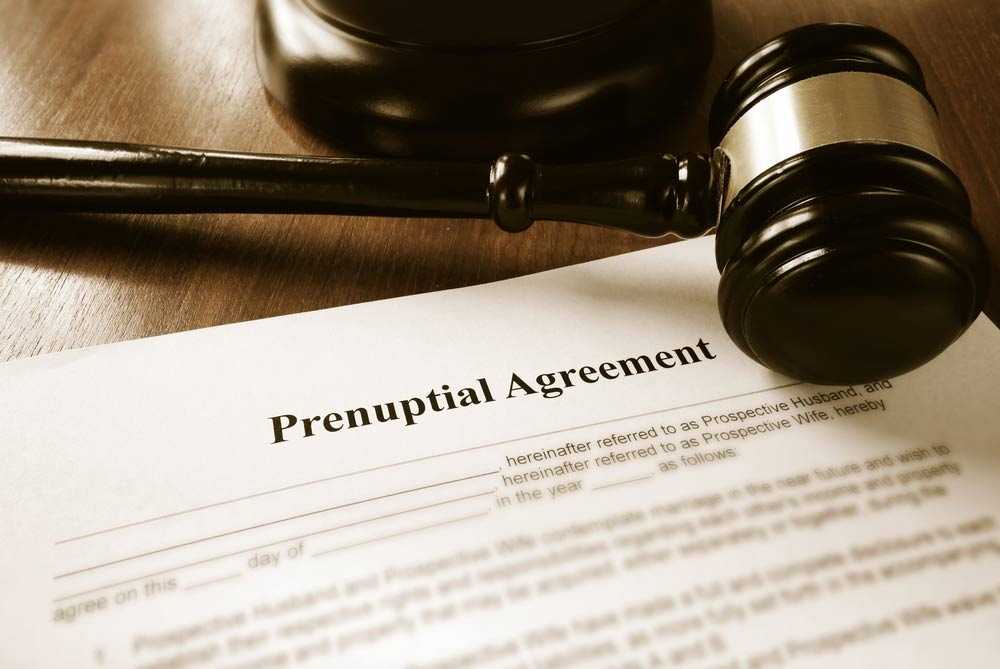 Prenuptial agreements and gavel
