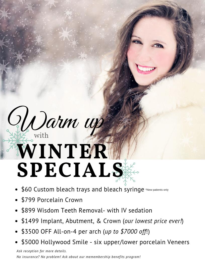 Winter 2018 Dental Coupons Bountiful and Layton Utah