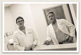 Dr. Turner P. Emery and Dr. Michael D. Wooten in their office