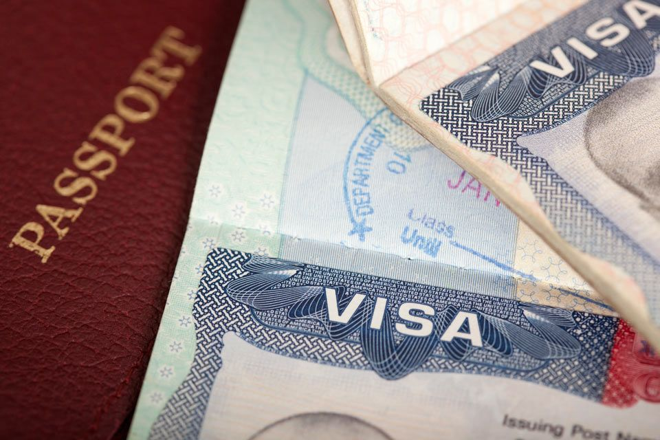 Visa, passport, and immigration paperwork